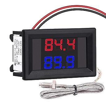 50 ℃ ~ 12V 110 ℃ Digital Thermometer Temperature Meter Aquarium+Sensor