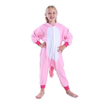 Unicorn Onesie Pajamas for Kids Animal Onesie Unicorn Costume Christmas Cosplay Dress for Girls: Clothing