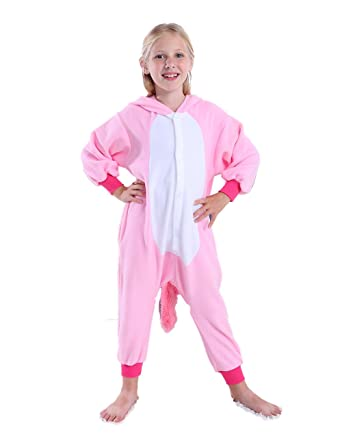 21fc211e42 cosMonsters Kids Unicorn Onesie Animal Pajamas Christmas Cosplay Costume  for Girls and Boys(Pink