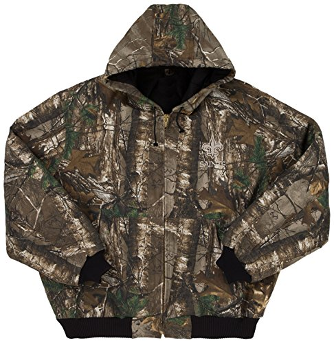 Dunbrooke Apparel NFL New Orleans Saints The Camo Canvas Quilt Lined Hooded Jacket, Real Tree Camouflage, 2X (Orleans Pullover New Jacket Saints)