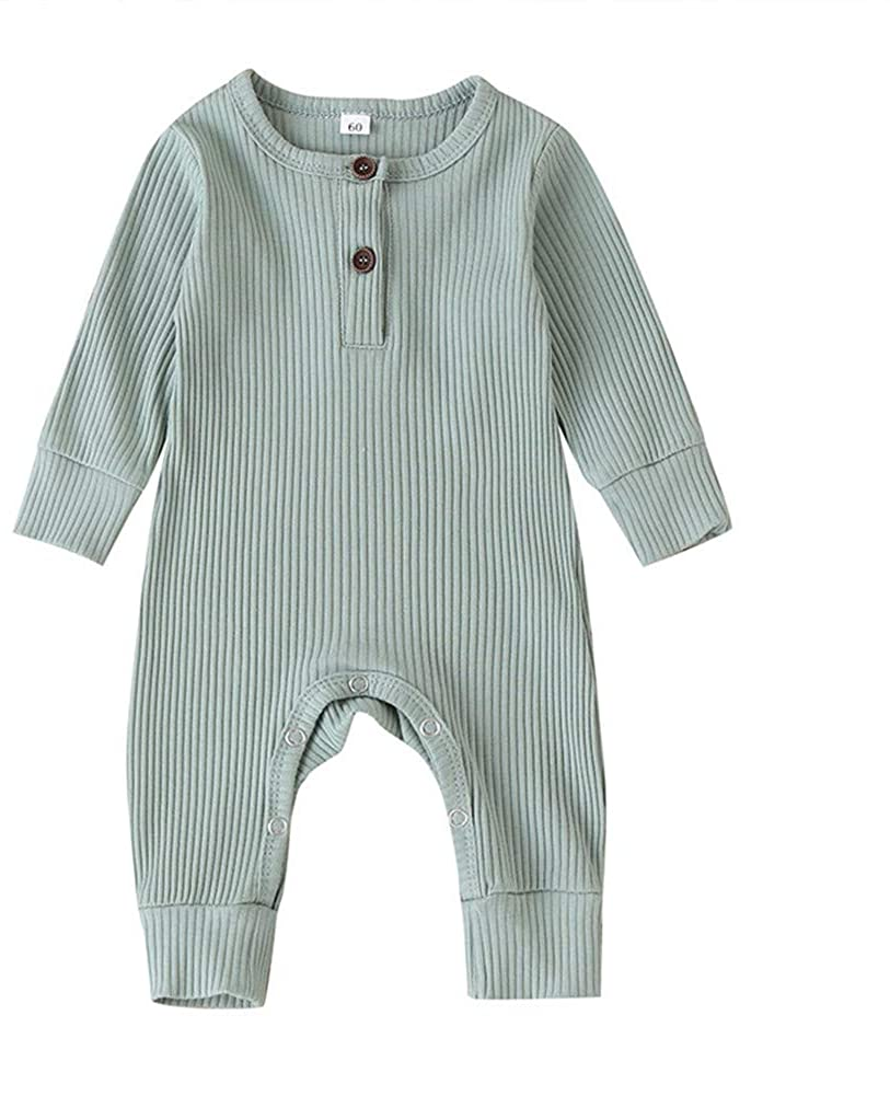 Boy Girl Basic Clothes Seyurigaoka Infant Baby Boy Clothes Unisex Knited Romper Solid Color Jumpsuit One Piece Outfits
