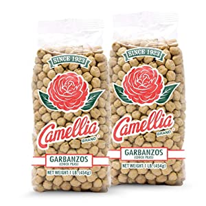 Camellia Brand Dry Garbanzo Beans (Chickpeas), 1 Pound (Pack of 2)