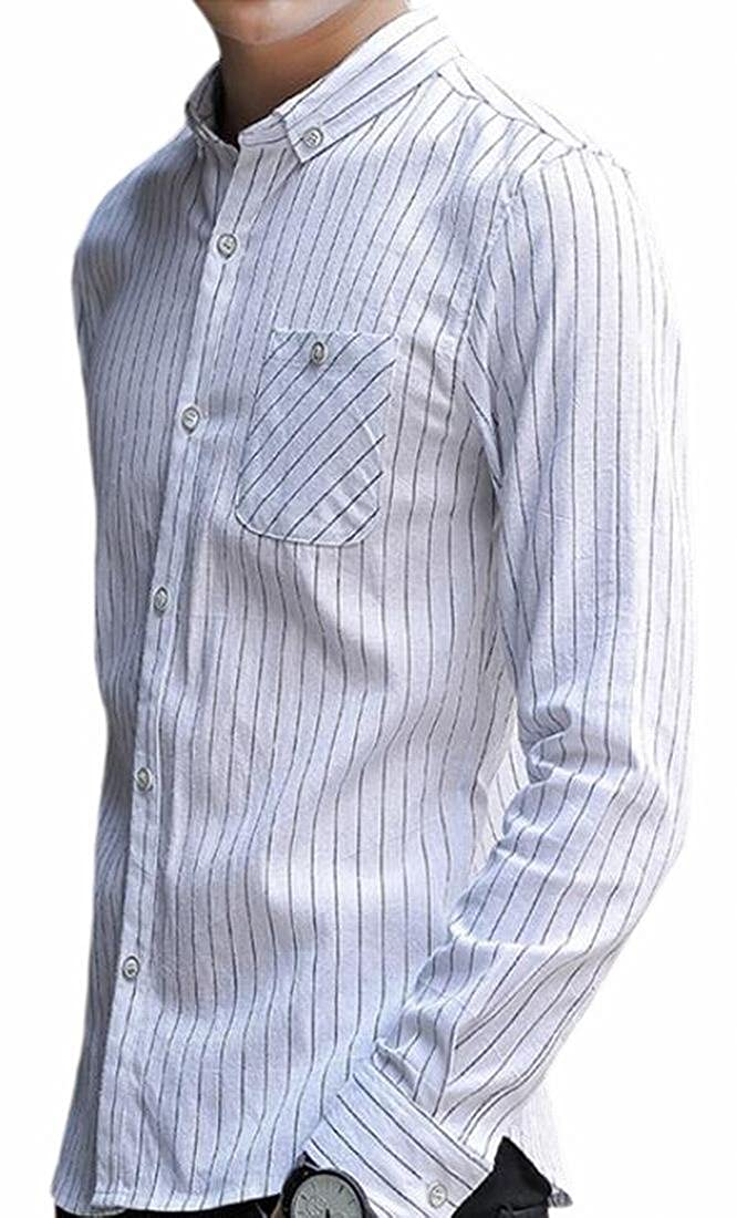 Tymhgt Mens Long Sleeve Plaid Button Down Shirt Casual Oversized Tops
