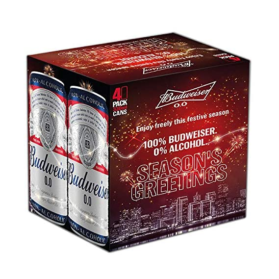 Budweiser Non-Alcoholic 0.% Gift Pack, 330*4 ml Pouch