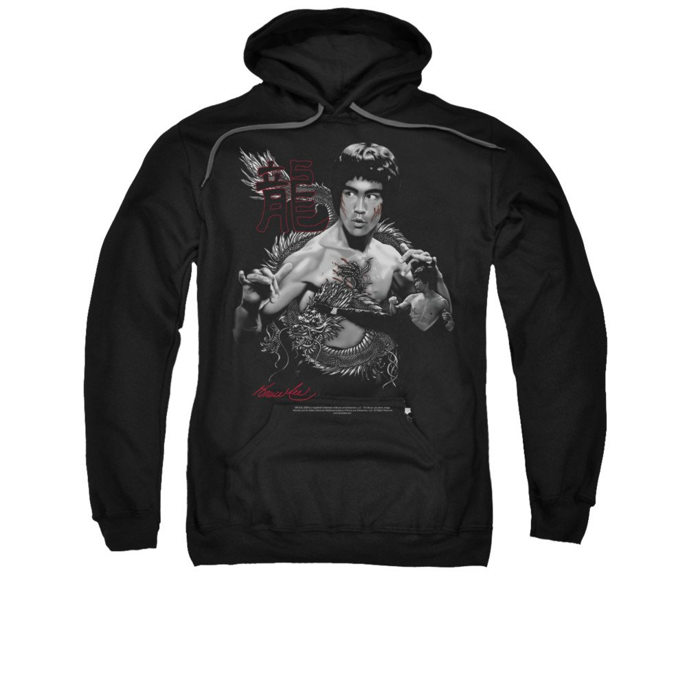 Bruce Lee Martial Arts The Dragon Adult Pull-Over Hoodie Trevco