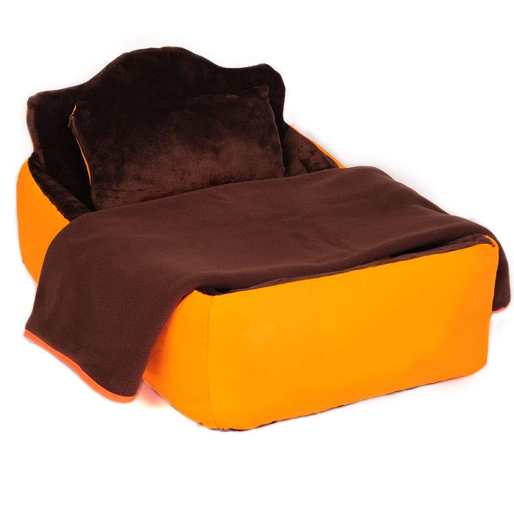 esclusivo Zaino Biancheria da letto per per per gatti e cani rimovibile in tre pezzi arancione - piccola e media (4 misure) cani (dimensioni   110cm)  vendita con alto sconto
