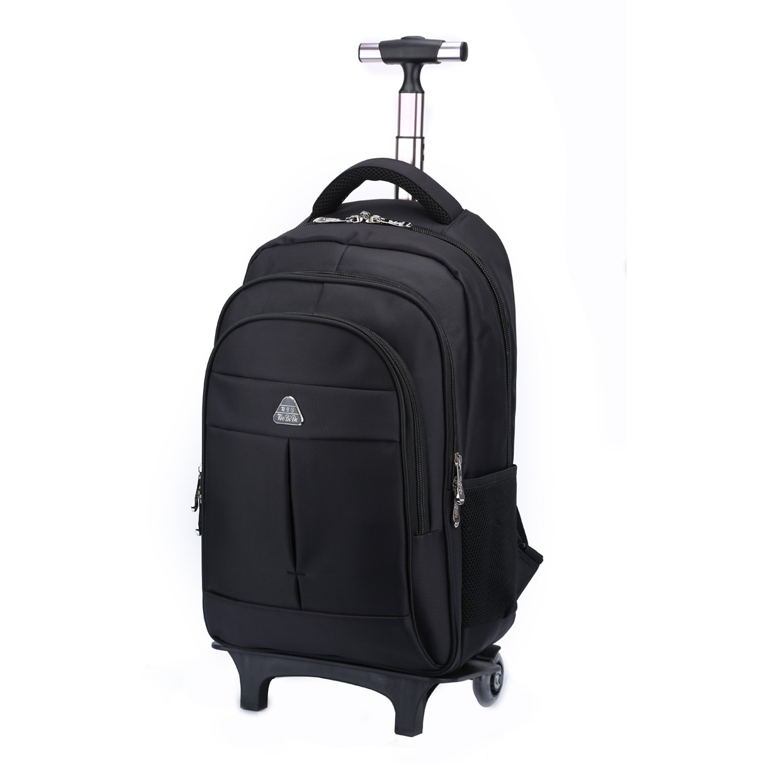 Little World IT Wheeled Backpack Lightweight Portable Carry-on Luggage with Removable Roller Frame for Traveling Business 16'' Laptop Black