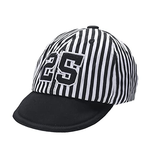 284ab988966 chinatera Baby Boys Girls Letter Print Striped Baseball Cap Kids Children  Peaked Cap Casual Sunhat (