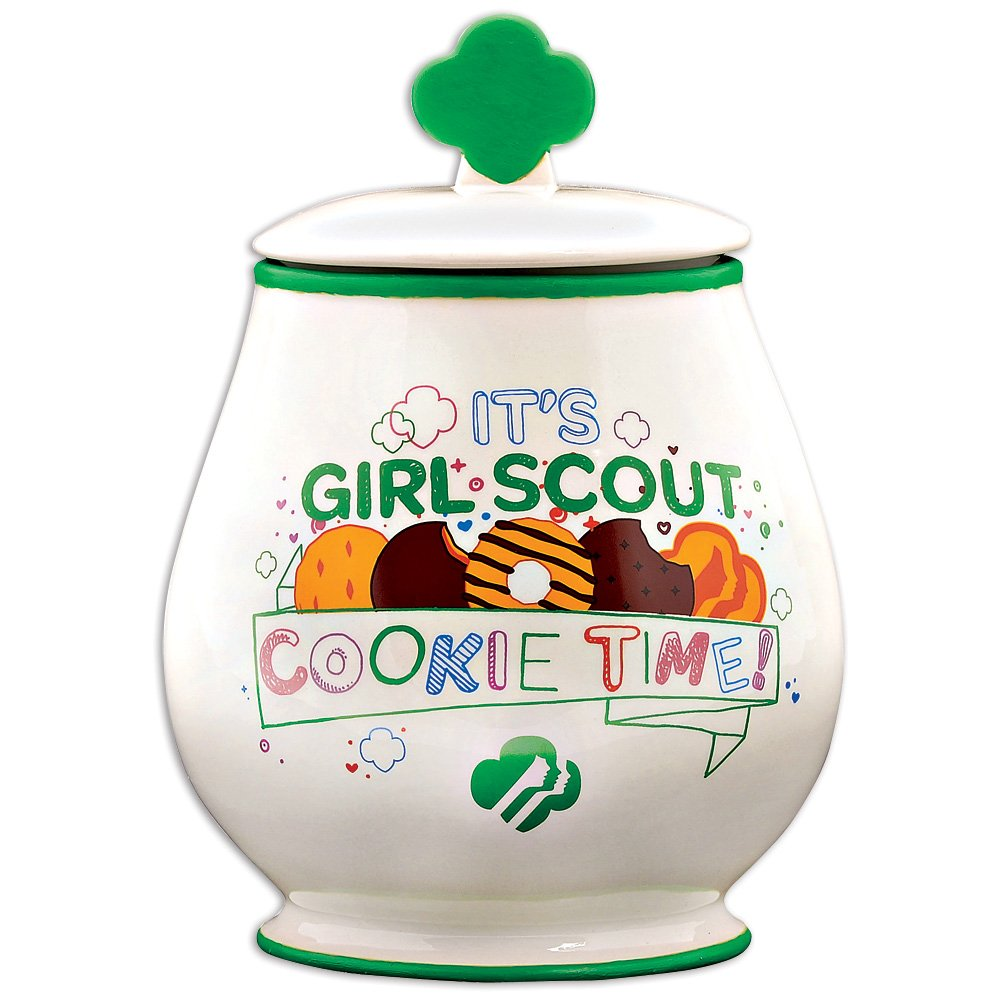 Department 56 Girl Scouts of America Cookie Jar, 8.875 inch
