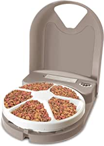 PetSafe Eatwell 5 Meal Pet Automatic Feeder for Cats and Dogs