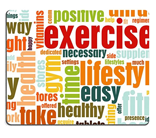 Liili Mouse Pad Natural Rubber Mousepad IMAGE ID: 5716275 Exercise Fitness Lifestyle as a Background Art