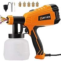 $50 » YATTICH Paint Sprayer, 700W High Power HVLP Spray Gun, 5 Copper Nozzles & 3 Patterns,…
