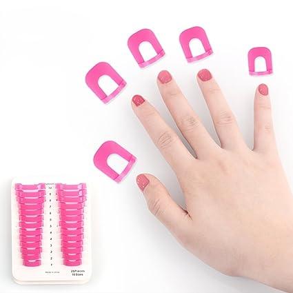 Stencil - Esmalte de uñas, reutilizable, de plástico suave, resistente a salpicaduras,