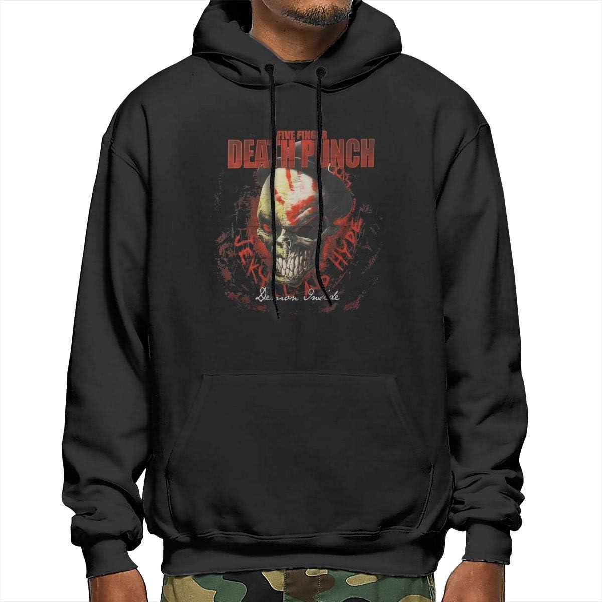 EVE JOHN Five Finger Death Punch Poster Flag Black Hoodie New Pocket for Mens Sweatshirt