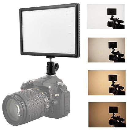 alftek lámpara LED Video Video Foto luces panel de intensidad ...
