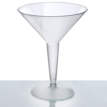 Balsacircle  Oz Clear Plastic Martini Glasses Disposable Wedding Party Catering Tableware