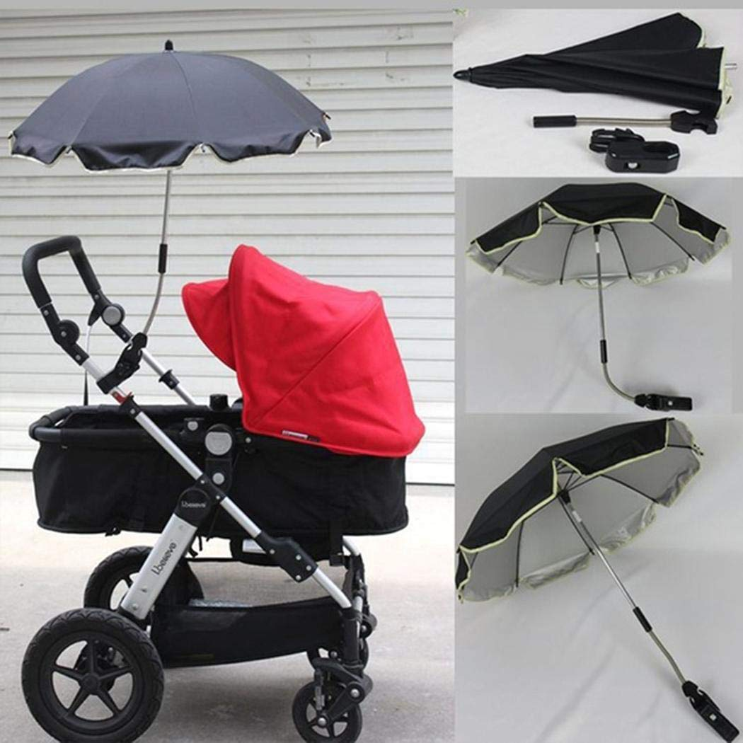 Baby Stroller Umbrella, Foldable Baby Carriages Wheelchair Pushchair Cover for Sun Rain Protection UV Rays Outdoor Umbrella by KOKOBUY (Image #3)