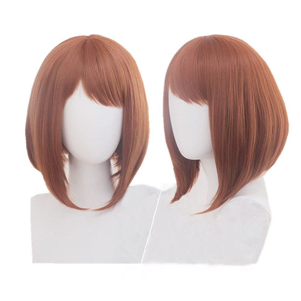 Cosplay Wig Heat Resistant Short Brown Anime Party Wig by Bingooutlet