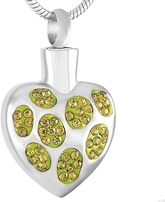 GVRPV Collar de Ceniza conmemorativo de corazón de Piedra