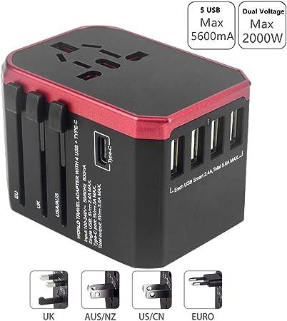 Universal EU UK AU to US USA AC Travel Power Plug Adapter Outlet Converter 9UK