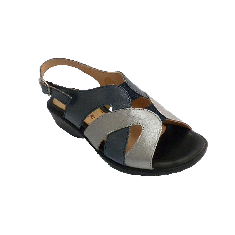 Bleu Femme Tone Très Confortable Sandale Cutillas Et Métal Doctor En 9YWHe2IbDE