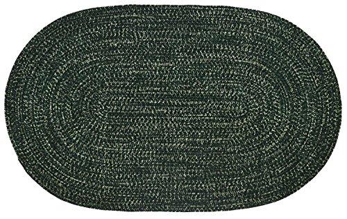 Better Trends/Pan Overseas BRCR810DE Chenille Reversible Tweed Area Rug, 8' x 10', Duluth/Emerald Green