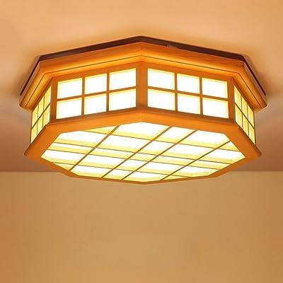 Jack Mall Lampe De Plafond En Bois A Led De Style Japonais Lampe De