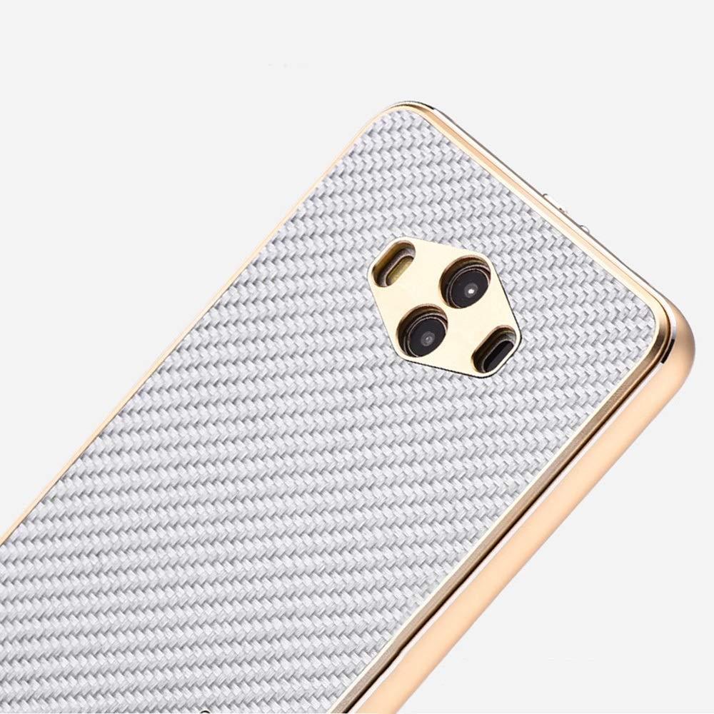 ACHAOHUIXI マルチ カラー カーボン ファイバー携帯電話ケース新しいメタルカバー飛散防止電話ケースHuawei P10、P10プラス、P20、P20プラス、Mate10、Mate10 Pro、Mate20 Pro、Mate20 (Color : ゴールド, Edition : P10)