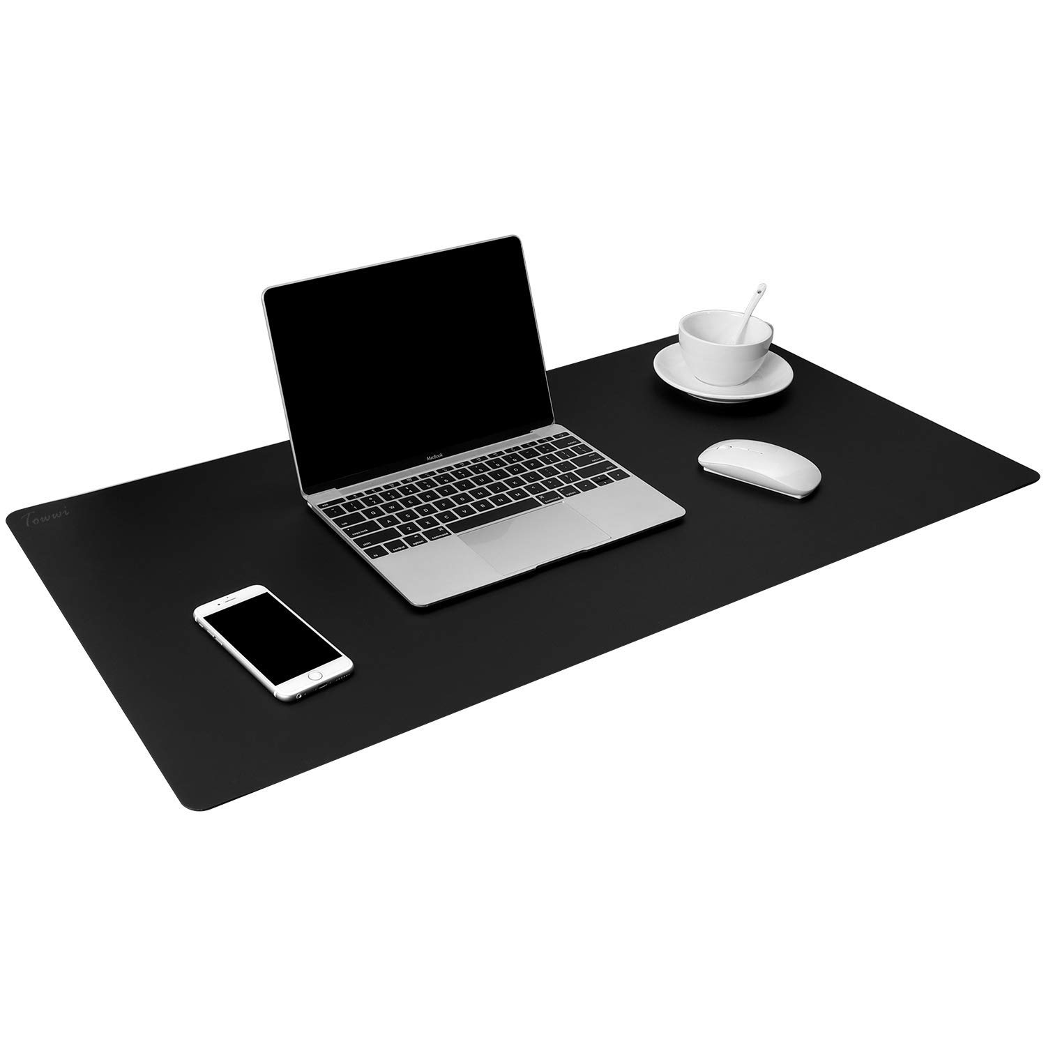 """TOWWI Leather Desk Pad Protector 34""""x17"""" Desk Blotter Pad, Waterproof Writing Desk Mat for Office Home"""