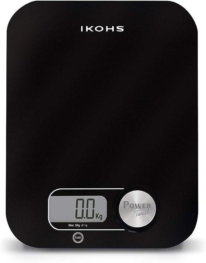 IKOHS PONDUS BLACK - Báscula de Cocina ecológica generación de energía, sin pilas ni baterias: Amazon.es: Hogar