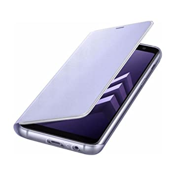 quality design e3c7b 04699 Samsung Neon Flip Case with Illuminated Edge Notifications for Galaxy A8  (2018), Orchid Grey