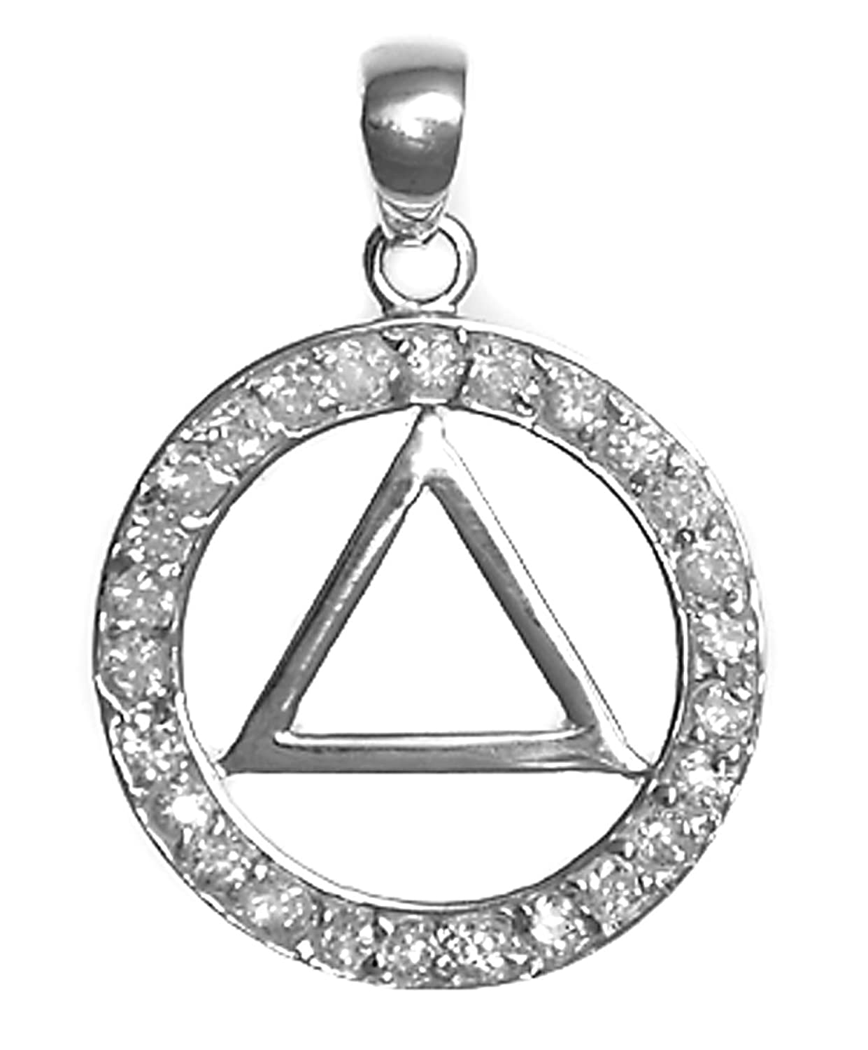 Delicate Alcoholics Anonymous Symbol Pendant 26aa Ster Aa