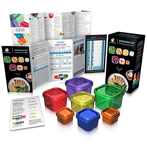Portion Control Containers With Guide By Beachbody   Bpa Free   7 Piece Kit