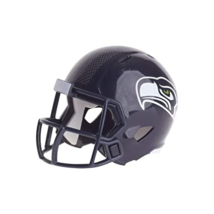 Seattle Seahawks Nfl Riddell Speed Pocket Pro Micro Pocket Size Mini Football Helmet