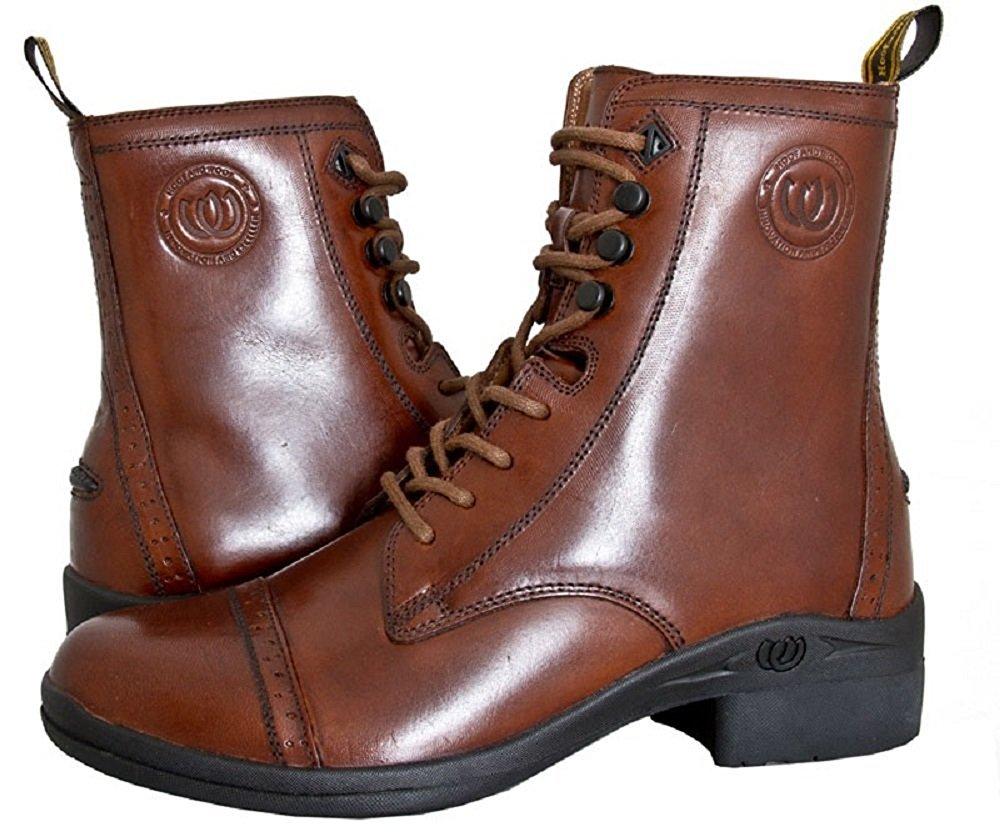 Hoof & Woof Womens Chocolate Full Grain Leather Comfort Paddock Zip Boot B00SZ4RY4I 8.5 B(M) US|Brown