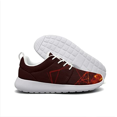 shiny Abstract tech Burning shiny Young men Sneaker Sneakers Lightweight Breathable Sport Walking Shoes