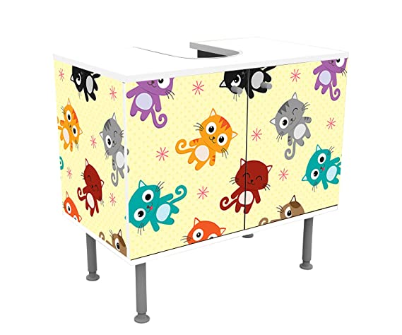 wandmotiv24 Mueble de baño Lindos Gatitos Pegado Frontal y Lateral Lavabo, Mueble Lavabo M0992: Amazon.es: Hogar