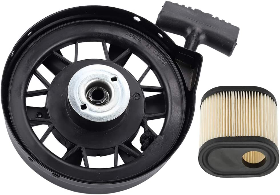 Dalom 590702 Recoil Starter Assembly 590739 590637 Rewind Pull Start + 36905 Air Filter for Tecumseh LV195EA LEV120 LEV100 LEV105 LEV115 Engine Toro 20016 20017 Craftsman Lawn Mower Parts