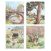 (Set of 4) Winnie the Pooh Prints (Classic Nursery Wall Art, Boys Decor, Baby Girls Art) Winnie Has Fun  – 8x10 Unframed