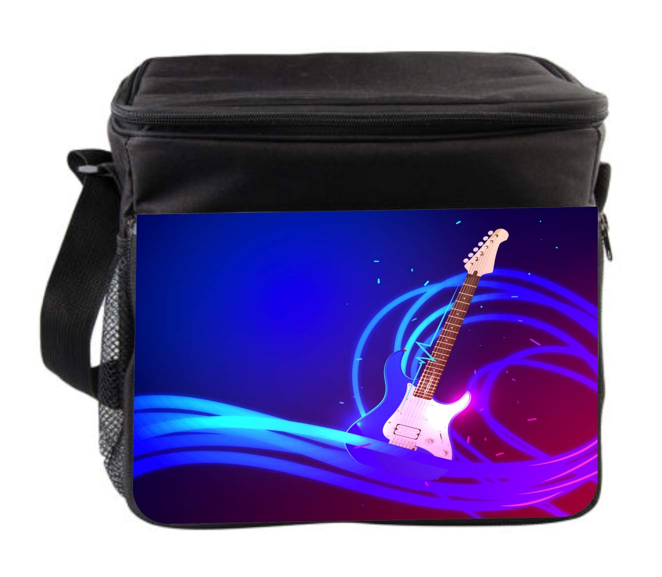 Rosie Parker Inc. Music Electrified Guitar Cross Body Thermal Cooler Bag for Travel by Rosie Parker Inc.