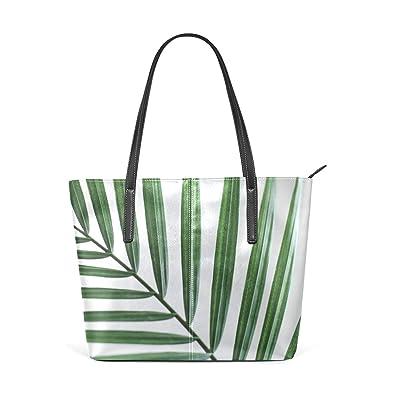 Amazon.com: Bolsas de Tote Planta Verde Minimalismo Piel ...