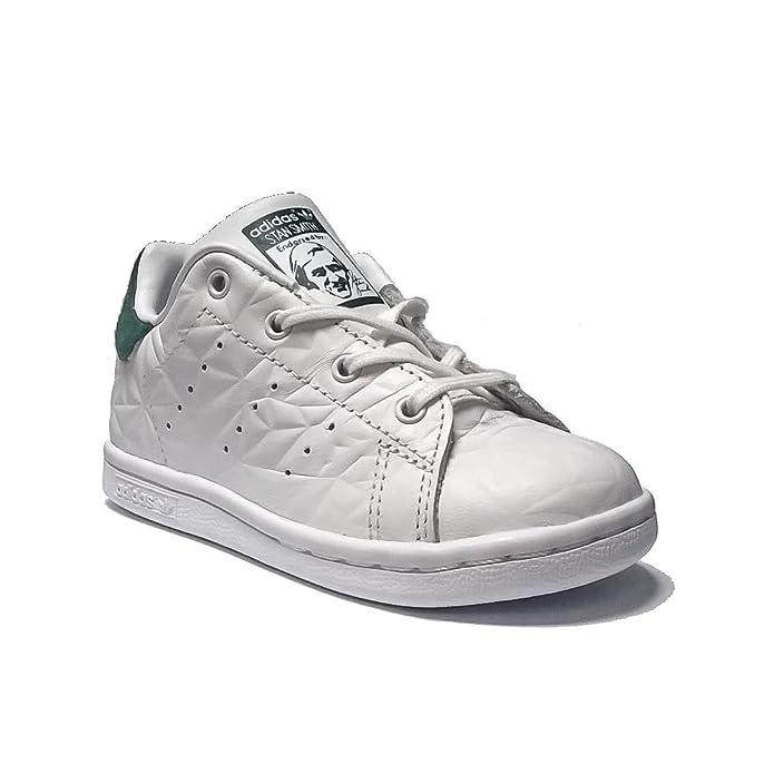 adidas Stan Smith 1, Scarpe Bambino da Tennis, Bianco, S76986, 20EU (Pelle, 27)