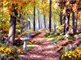 F.X. Schmid 500 Piece Puzzle - A Path In The Forest by Alan Giana, Artist