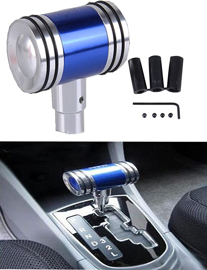 Arenbel Type R Gear Shift Knob Leather Automatic Car Shifting Stick Lever Head Manual Shifter Knobs fit Most Universal Transmission Trucks Vehicles Black