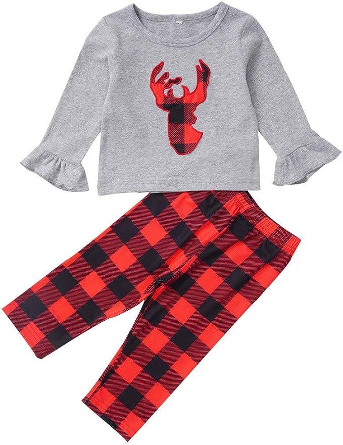 SUDADY - Pijama de Navidad para niño, 2 Piezas, Camisas de Noche + ...