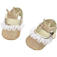 DEBAIJIA Bebé Niña Zapato de Princesa con Cinta Mágica para 6-18 Meses Niños Primeros Pasos Zapatos de Cuero con Lazo…