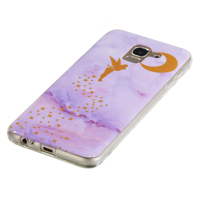 Lomogo Coque Galaxy J6 2018 Silicone 2018 - LOYHU260350 L10 Housse Antichoc Anti-Rayures /Étui Coque de Protection Souple Gel Case pour Samsung Galaxy J6
