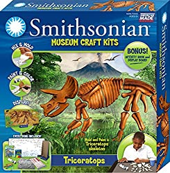 "Smithsonian Award Winning 15"" Triceratops Perfectcast Museum Craft Kit"