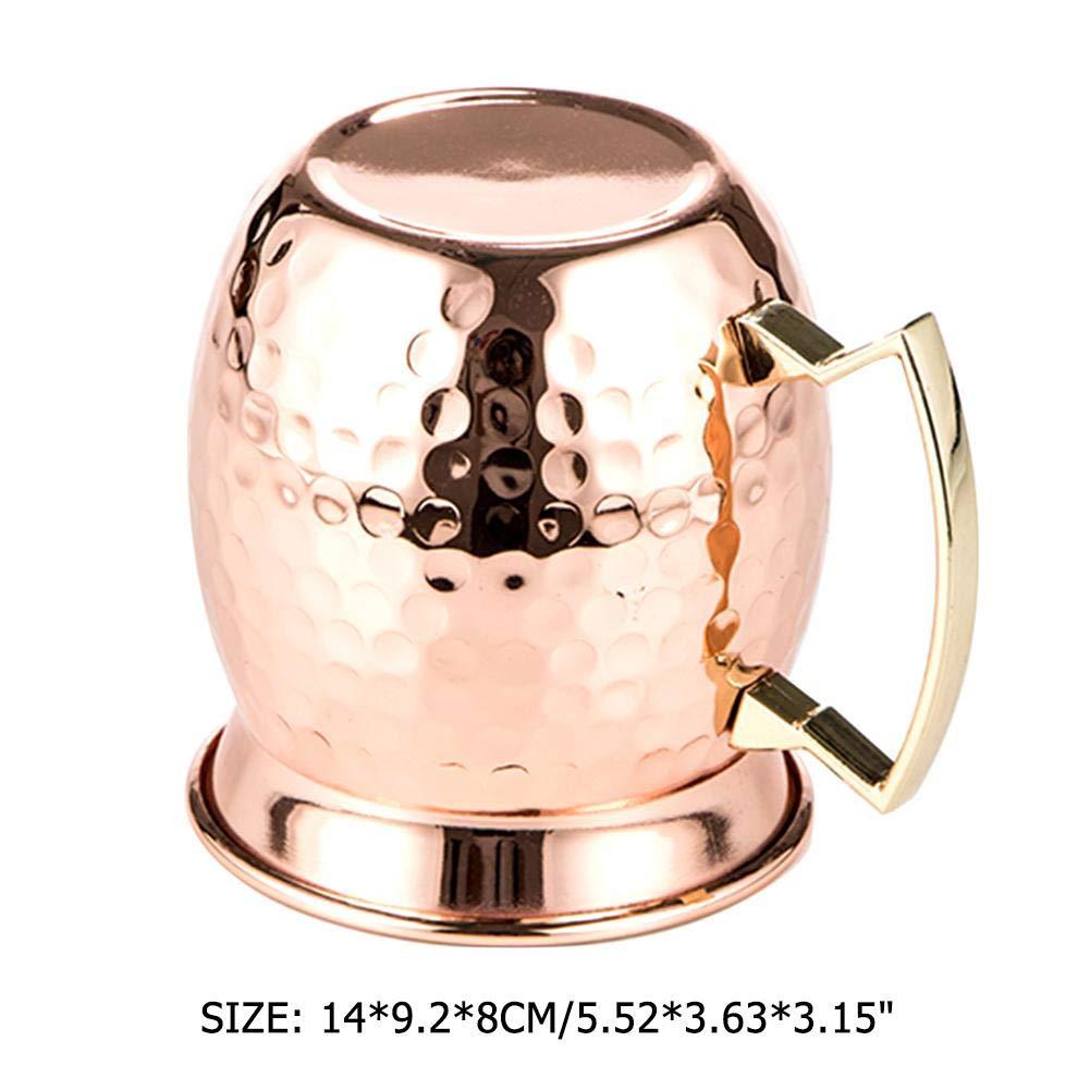 in Hornform Cocktailbecher aus Edelstahl 500 ml geh/ämmert