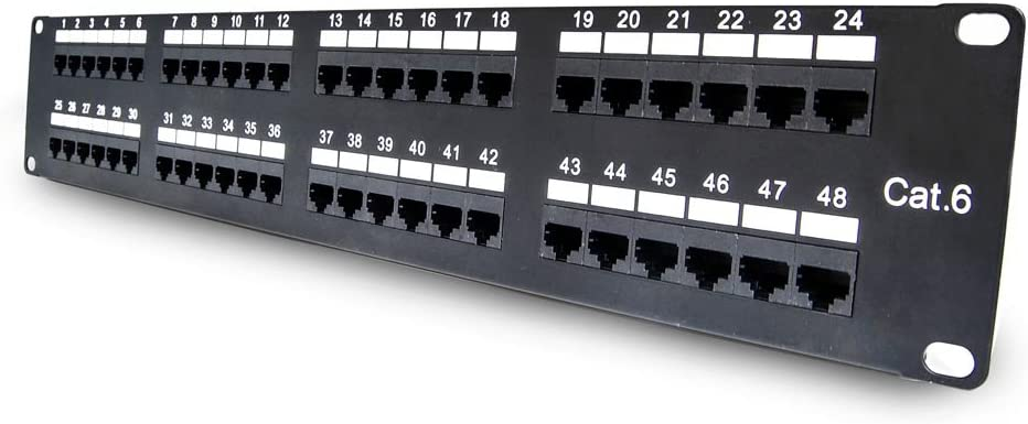Beszin Cat.6 110 Type Horizontal Patch Panel Rackmount 24 Port